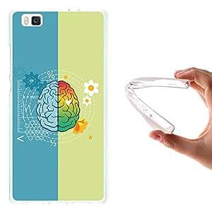 WoowCase - Funda Gel Flexible { Huawei P8 Lite } Cerebro Carcasa Case Silicona TPU Suave