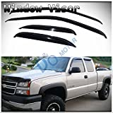 window tint chevy silverado - D&O MOTOR 4pcs Front+Rear Smoke Sun/Rain Guard Outside Mount Tape-On Vent Shade Window Visors For 99-06 Chevy Silverado/GMC Sierra 1500/2500/3500 07 Classic Body Extended Cab With Half Size Back Doors