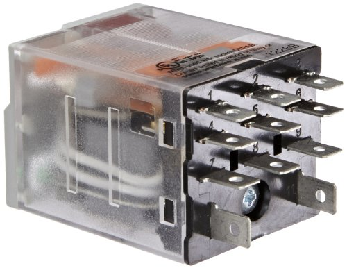 Eaton D7PF3AA General Purpose Relay, 15A Rated Current, 3PDT Contact Configuration, 120VAC Coil Voltage, 2.77ohm Coil Resistance