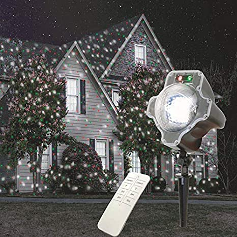 christmas laser lights outdoor projector laser lights led snowflake aluminum alloy shelllandscape green