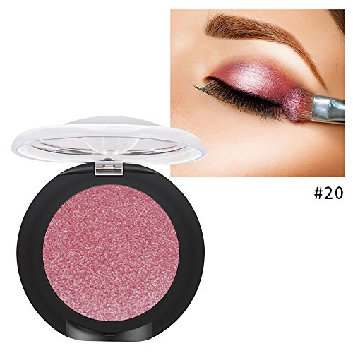 Single Baked Eyeshadow 12 Color Classy Intensity Shimmer Pearl Eye Shadow Highlighter Pigment Diamond Glitter Makeup Powder (20#)