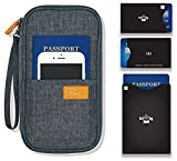 P.travel Passport wallet cover / Travel clutch bag / Credit Card cash organizer / Passport Holder