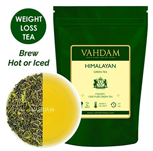 Cheap VAHDAM, Green Tea Leaves from Himalayas (50 Cups), 100% Natural Tea, POWERFUL ANTI-OXIDANTS, Brew Hot Tea, Iced Tea or Kombucha Tea, Green Tea Loose Leaf, 3.53oz