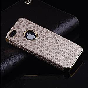 DD Football profile pattern plating Phnom Penh PC Leather Back Cover Case for iPhone 5/5S (Assorted Colors) , White