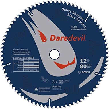 Bosch DCB1280 Daredevil 12-Inch 80-Tooth Extra-Fine Finish Circular Saw Blade