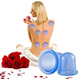 Phetron 2Pcs Anti cellulite Cups Vacuum Silicone Body Massage Cups Cupping Therapy Set for Body Detoxification, Cupping Cups Set includes 1x Large Body Cup, 1x Mini Body Cup