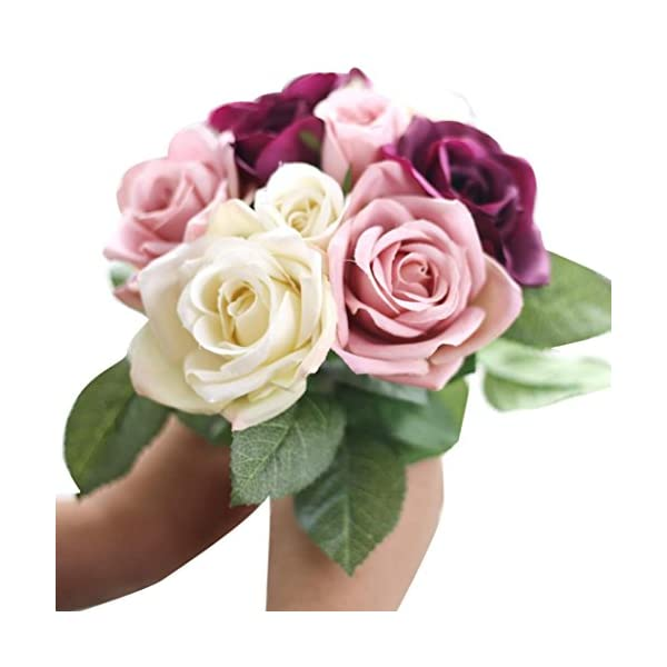 LtrottedJ-9-Heads-Artificial-Silk-Fake-Flowers-Leaf-Rose-Wedding-Floral-Decor-Bouquet