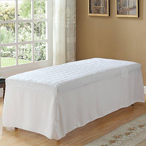 Crinkle Tier Skirt (Cosmetic Mattress Massage Skirt Thickening Massage Physiotherapy Mattress Fashion Comfort Minimalism (White))
