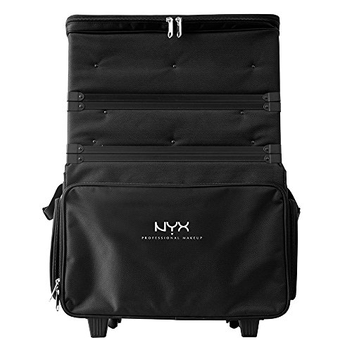 NYX Professional Makeup Makeup Artist Train Case, 3 Tier Stackable Black/White by NYX