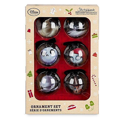 Nightmare Before Christmas Tim Burton's The Sketchbook Ornament Set