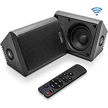 Amazon Com Dual Bluetooth Wall Mount Speakers 6 5 Inch
