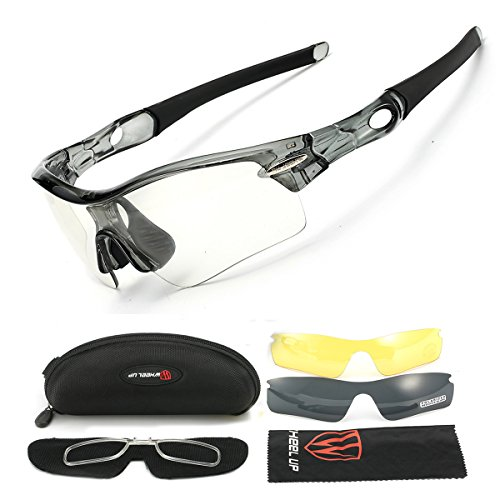 Riding Sunglasses,Polarized U.V Protection Sport Sunglasses,Cycling Wrap Sunglasses With 3 Interchangeable Lenses for Men /Women,Riding Driving Fishing Running Golf or etc.Outdoor Activities By - Lens 3 Sunglasses Cycling