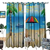 Best Tommy Bahama Beach Boats - Warm Family Beach Patterned Drape for Glass Door Review