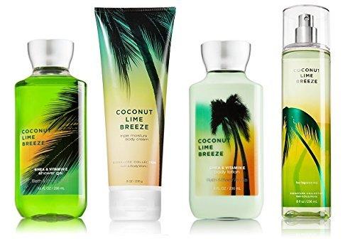 Coconut Lime Breeze Deluxe Gift Set - Bath & Body Works - Body Lotion - Body Cream - Fragrance Mist & Shower Gel Full ()