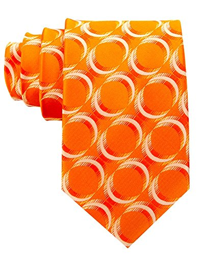 (Neckties By Scott Allan - Geometric Burnt Orange Men's Tie )