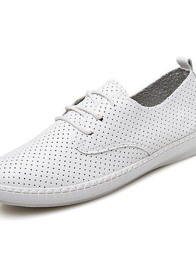 semicuero 5 tacón us8 White De casual Blanco Njx 5 Uk3 Zapatos us5 Uk6 negro Mujer 5 oxfords Eu39 5 Cn35 White Plano comfort Cn40 Eu36 qRwt8fx7t