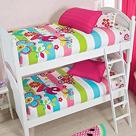Vianny Girl Bunk Bed And Sheet Set 5Pc