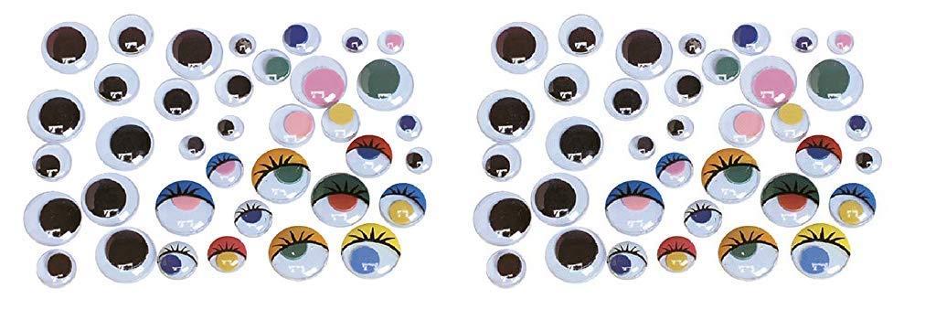 Creativity Street Round Wiggle Eyes, 20 mm, Black on White, Pack of 100 (Twо Pаck) by Creativity Street