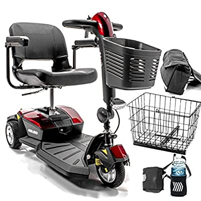Go-Go LX with CTS 3-wheel Electric Scooter Pride Mobility S50LX + Accessories Bundle
