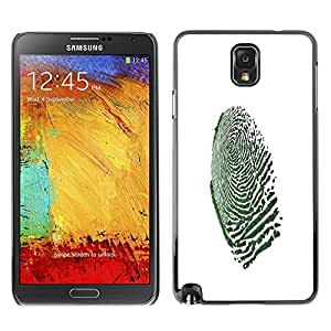 "For Samsung Note 3 N9000 , S-type Macro de huellas dactilares"" - Arte & diseño plástico duro Fundas Cover Cubre Hard Case Cover"