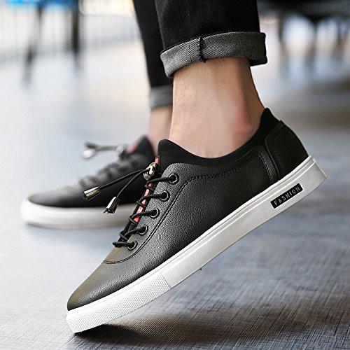 CSDM Scarpe da piattino di degli uomini della piattaforma Scarpe da pallacanestro Sport di running delle scarpe da tennis dello studente di gioventù , black , 39