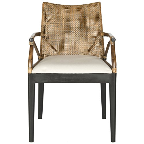 Safavieh Home Collection Gianni Arm Chair, - Living Rattan Furniture Room