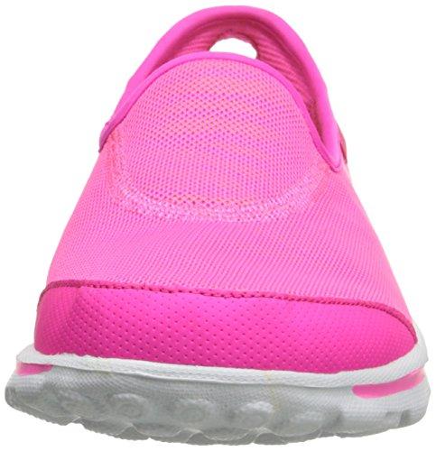 Skechers Rendimiento Go Walk Extracto Caminar Resbalón-en el zapato Hot Pink/Lime