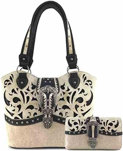 e948cf909756 Shopping Leather - JustinWest - Beige - 2 Stars & Up - Handbags ...