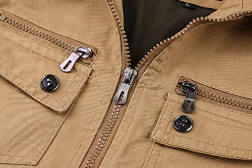 Aoooa Outdoor Vert Manteaux Blousons Transition Militaire Voler Bomber Veste Automne Hommes Légère Nouveaux Coton Printemps FrFfR