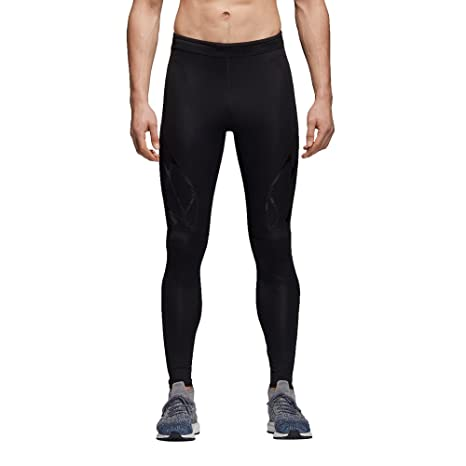 best service e0560 024f7 adidas Adizero Tight Leggings Sportivi, Uomo, Nero (Black Black), 44 (