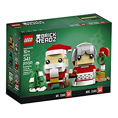 LEGO BrickHeadz Mr. & Mrs. Claus 40274 Building Kit (341 Pieces): Toys & Games