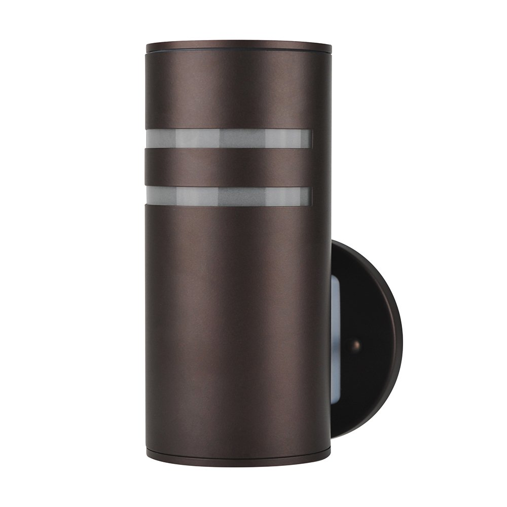 Outdoor Wall Lamp,Naturous PLW05 Waterproof Cylinder Porch Light, Modern Outdoor Lighting, UL US Listed, Painted Brown Wall Sconce, Suitable for Villa