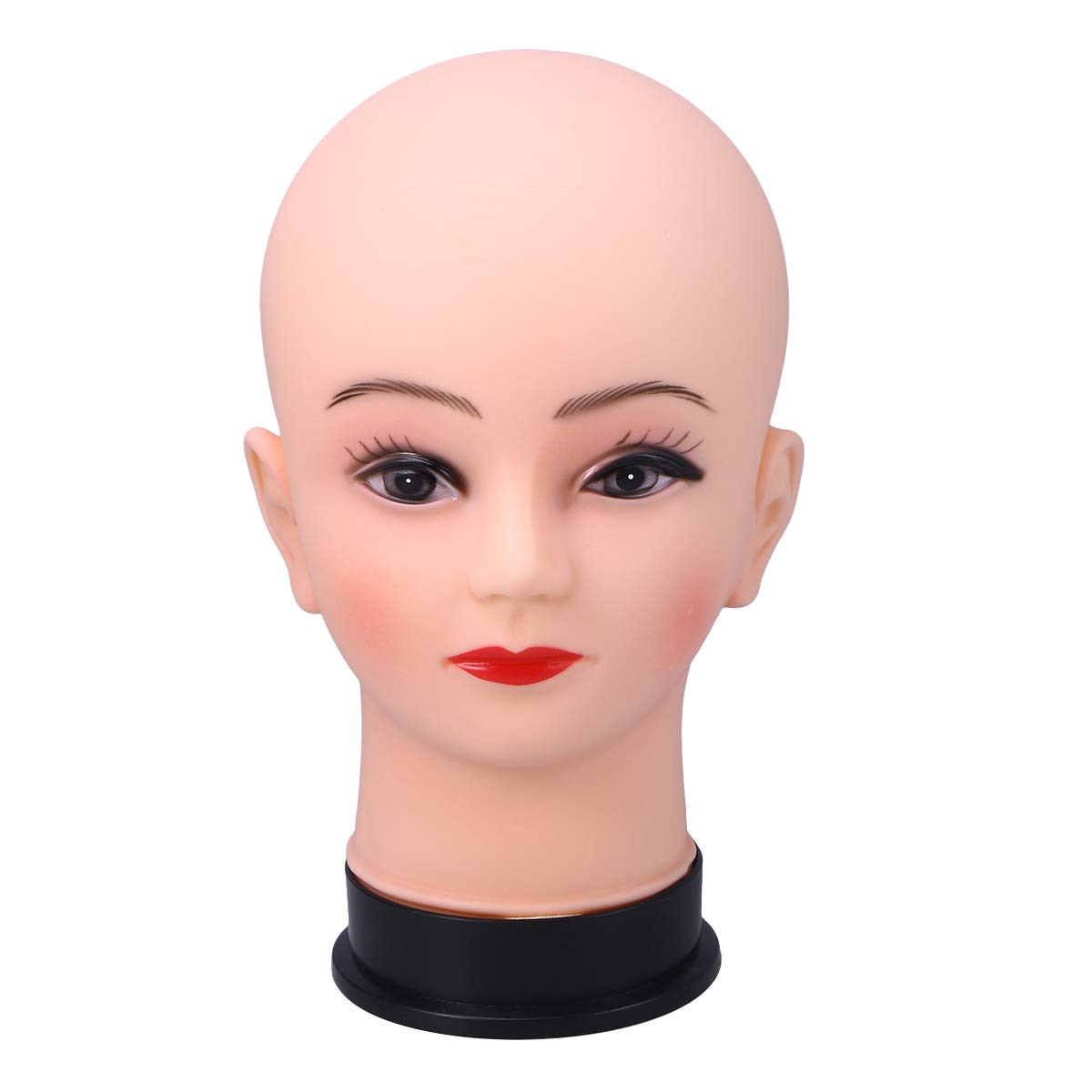 Lurrose Headwear Exhibition Stand Hairstyling Practice Heads Model Wig Stand
