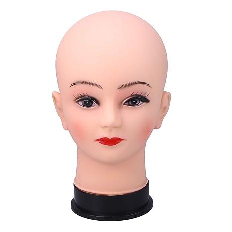 Lurrose Headwear Stands de exposición Peluquería Cabezas de práctica Modelo Pelucas Stands