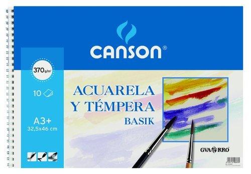Guarro Canson 822655 –  Blocco A3, 10 fogli, 370 gr 10fogli 370gr