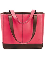 TOTE,LEATHER,PINKRIBBON,BCA