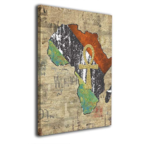 Harperson Retro Ankh African Africa Stretched and Framed Contemporary Pictures Canvas Art Prints for Wall Decor 12