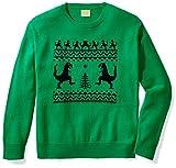 Ugly Fair Isle Unisex Jacquard Dinosaur Crewneck Christmas Sweater