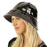 All Season Waterproof Rain Foldable Bucket Fisherman Adjustable Hat Cap Black
