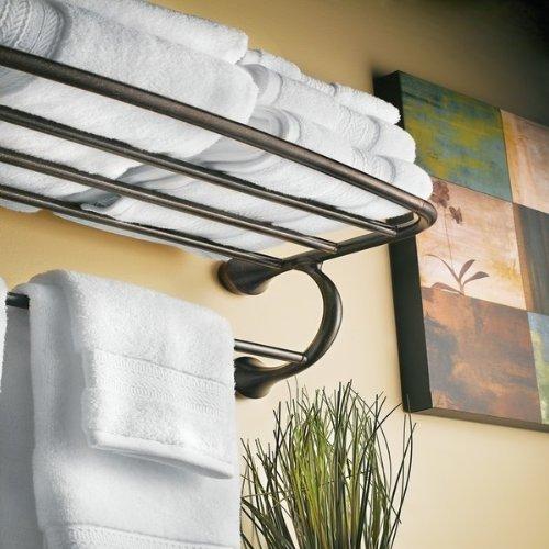 Moen YB2894ORB Eva Bathroom Hotel Towel Shelf, Oil-Rubbed Bronze