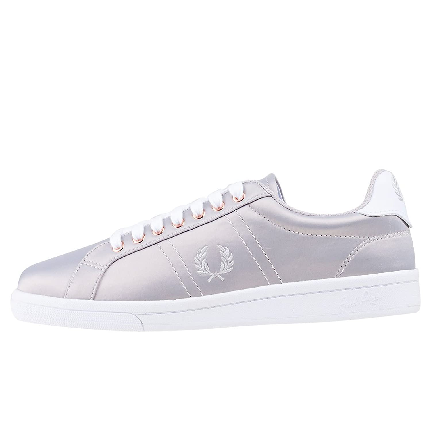 Fred Perry B721 Satin Womens Trainers Silver - 7 UK: Amazon.co.uk: Shoes &  Bags
