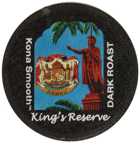 Aloha Island Coffee Company Kona Hawaiian Blend Keurig K-Cups Coffee, Kings Reserve Dark Roast, 12 Count
