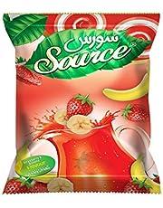 عصير سورس بودرة بنكهة الفراولة والموز، 900 جم