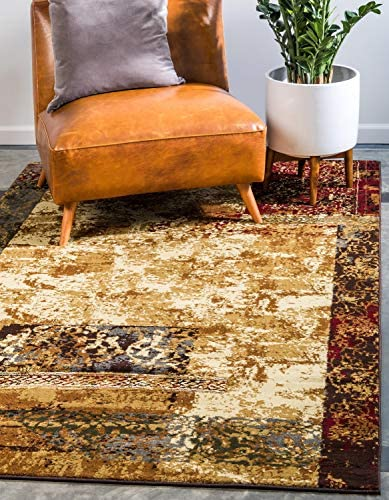 Unique Loom Barista Collection Abstract Modern Rustic Warm Beige Area Rug 9' 0 x 12' 0