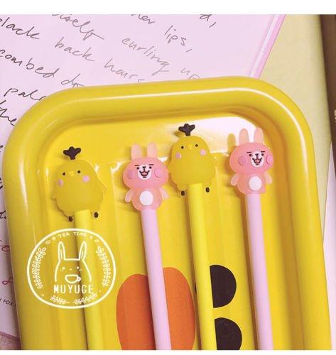 4PCS Cartoon Chick Bunny Kanahei Student Girl Ball Pen Ballpoint Stationery (Egyptian Chicks)