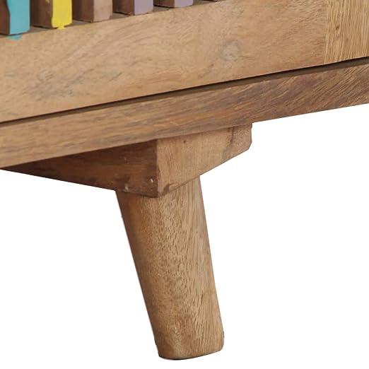 vidaXL Aparador 150x30x75 cm madera de mango maciza: Amazon ...