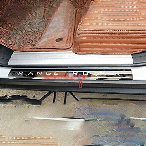 ZQXFZ For Land Rover Range Rover L322 2003-2012 4 Pcs Stainless Steel Door Sill Kick Plate Non-Slip Anti-Scratch Protection Strip Decorative Accessories