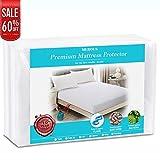 MEROUS Waterproof Premium Full Cotton Mattress Cover - Hypoallergenic Dust Mite Proof Mattress Protector - Fitted Mattress Pad - 10 Year Warranty - Fitted Mattress Pad - 10 Year Warranty - Vinyl Free