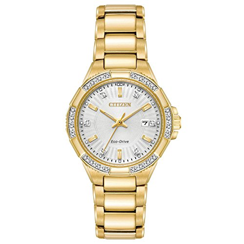 Citizen Women's 'Eco-Drive' Quartz Stainless Steel Casual Watch, Color Gold-Toned (Model: EW2462-51A)