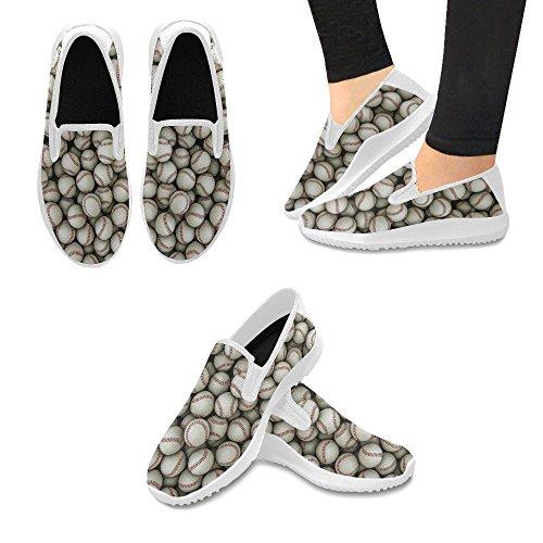 InterestPrint Womens Slip-On Loafer Shoes Canvas Fashion Sneakers Multi 6 8dqiYlQA5